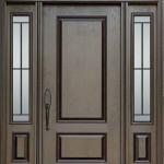 Double Fibergl Door With 3 Quarter Gl