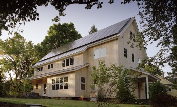 Eco friendly residence with fiberglass windows